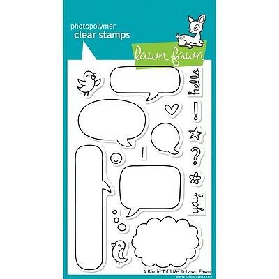 Lawn Fawn Clear Stamps - Bird Told