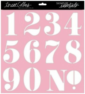 "Schablone Signature Essentials 12x12"" Stencil Numbers"