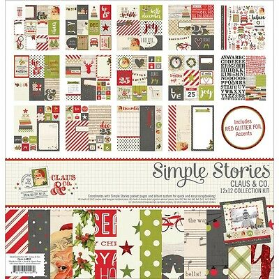 "Simple Stories Collection Kit 12"" x 12"" Claus & Co."