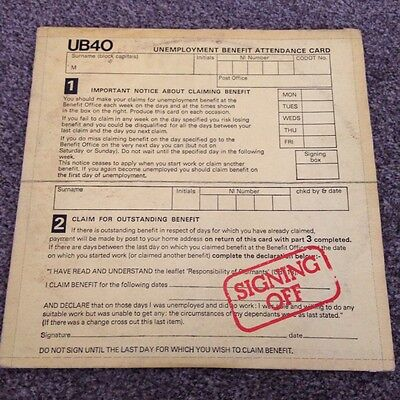 UB40 Signing off original vinyl record with 12""