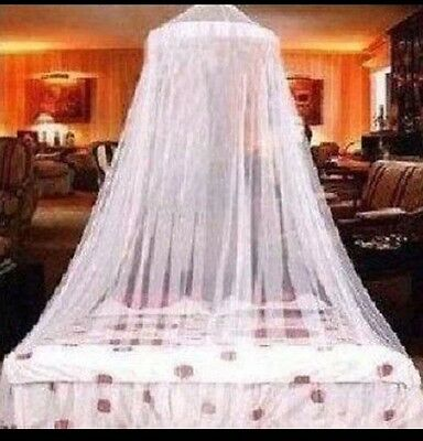 Cot Lace Bed Canopy Netting Curtain Fly Midges Insect Cot Mosquito Net