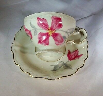 Rosenthal Selb Germany China Pompadour Demitasse Footed Cup & Saucer Set!