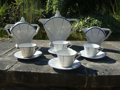 ANTIQUE FRENCH ART DECO COFFEE SET 1930s St-Amand Dinoise MADE IN FRANCE