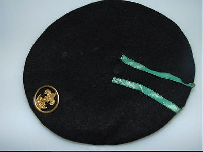 Portugal Portuguese Old Boy Scout Black Beret  Very Rare