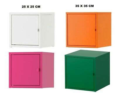 Ikea Lixhult Cabinet All Metal Color White /Yellow /Orange & Blue Free Delivery