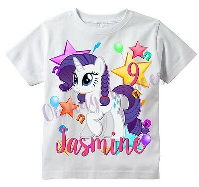 APPLE JACK My Little Pony Custom T-shirt PERSONALIZE Birthday Add Name and Age