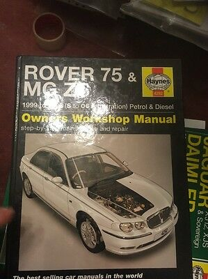 Haynes Rover 75 / Mg Zt Manual 99-05 Petrol & Diesel Excellent Condition