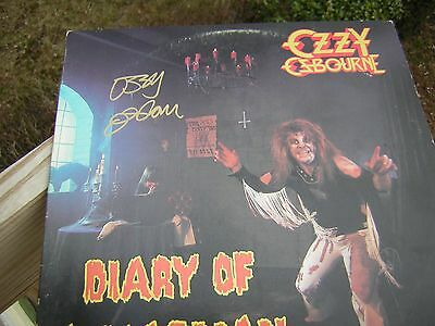 - Ozzy Osbourne Signed Lp Diary Of The Madman