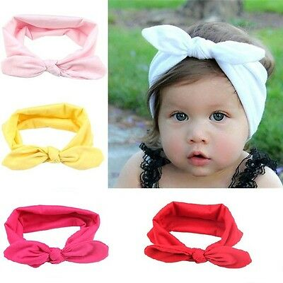 Baby Kids Girls Infant Flower Bow Hairband Turban Knot Rabbit Headband Headwrap