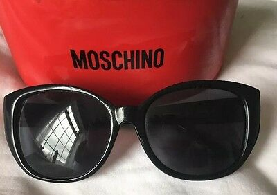 Moschino Black Sunglasses. With Red Case.