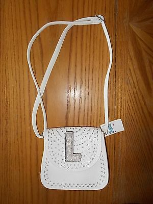 Girls Justice Brand Small White Purse With Shoulder Strap NWT