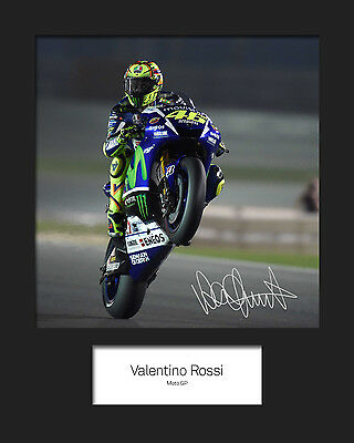 VALENTINO ROSSI #3 Signed 10x8 Mounted Photo Print - FREE DELIVERY