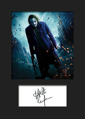 HEATH LEDGER (JOKER) #2 A5 Signed Mounted Photo Print - FREE DELIVERY