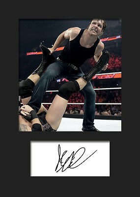 DEAN AMBROSE #2 (WWE) Signed Photo A5 Mounted Print - FREE DELIVERY