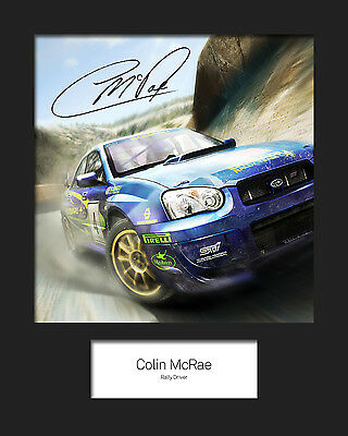 COLIN McRAE #1 Signed 10x8 Mounted Photo Print - FREE DELIVERY