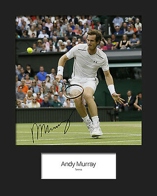 ANDY MURRAY #1 Signed 10x8 Mounted Photo Print - FREE DELIVERY