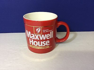 Maxwell House Mug Red & White Made In England Coffee Cup