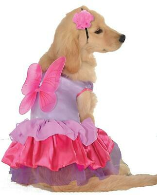 Pixie Pup Fairy Pink Purple Fancy Dress Up Halloween Pet Dog Cat Costume