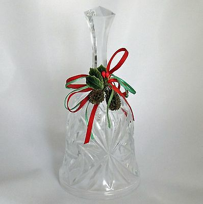 Cut Glass Christmas Dinner Bell Holiday Decoration