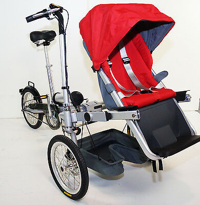Electrical bike, tricycle easy transform into stroller, for boys and girls, 2017