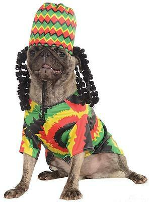 Rasta Dog Jamaican Caribbean Fancy Dress Up Halloween Pet Dog Cat Costume