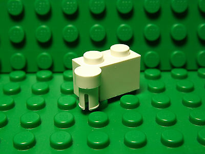 Lego NEW white 1 x 2 modified bricks with swivel--top /& bottom   2 sets