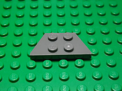 LEGO Lot of 4 Pair of Light Bluish Gray 4x2 Plate Wedge Pieces