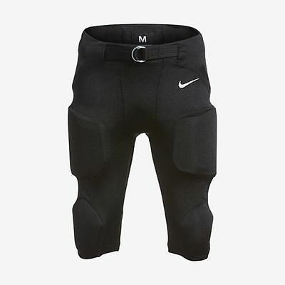 NIKE PRO INTEGRATED PADDED YOUTH FOOTBALL PANTS YOUTH 678429 $55 MSRP Black