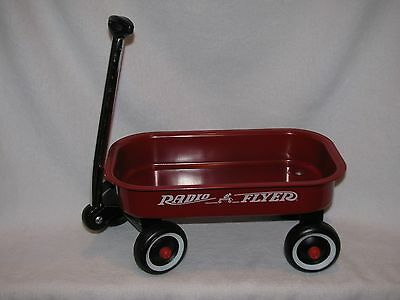 Small Red Metal Radio Flyer Wagon Great Prop For Dolls