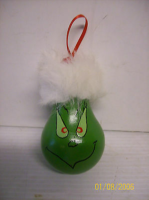 Hand Painted GRINCH Light Bulb Ornament Handmade