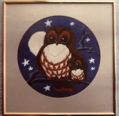HANLEY HALL LONG STITCH / TAPESTRY  OWL No 006 CANVAS & INSTRUCTIONS ONLY