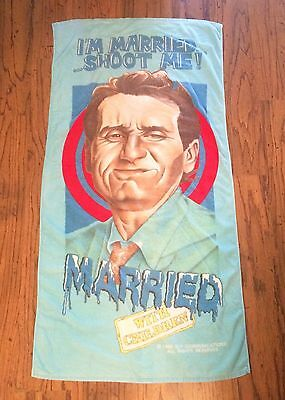 """VTG 1990 Married With Children TV Show Bath Towel 58"""" X 30"""" Jay Franco"""