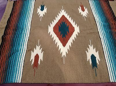 """Loomed Hand Woven Colorful Wool Rug Size 28"""" x38"""" Tribal South American"""