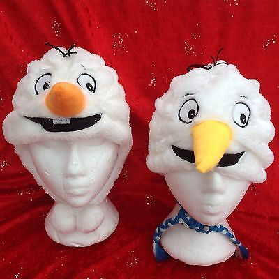 Olaf Snowman  Fleece  Hat  Age 3 Up To Adult  New Wholesale Joblot 2 Designs