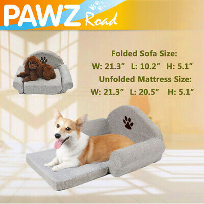 Grey Pet Dog Bed Cotton Linen Sofa Paw Design Puppy Dog Cat Mat Cushion Kennels