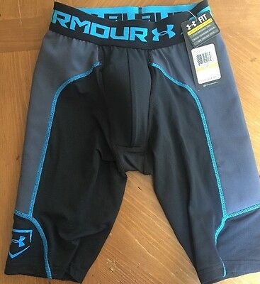 UA Under Armour Vent Baseball Slider W/ Cup Men's Compression Shorts Small NWT