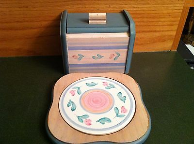 International Tableworks Tulipano Capri  - Recipe Box & Trivet