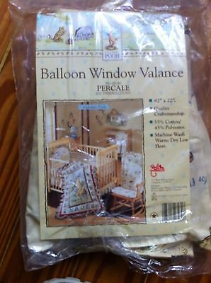 Classic Winnie The Pooh Alphabet Pooh Balloon Window Valance by Red Calliope NEW