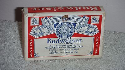 Genuine Budweiser playing card deck used