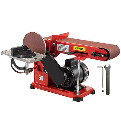 375W Bench Belt and Disc Sander Grinder Woodworking Benchtop Linisher Machine