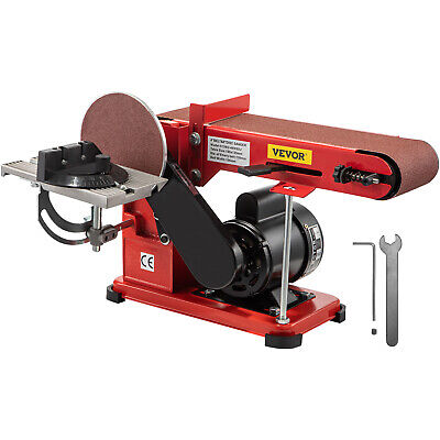 "375W Belt and Disc Sander Universal Electric Belt Grinder Tool 4"" X 36"""