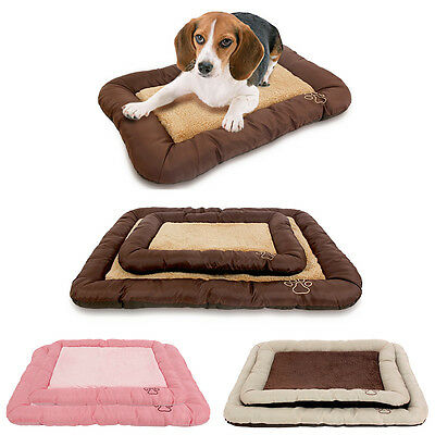 Pet Dog/Cat Bed Cozy Cushion Soft Blankets Crate Mat Oxford Puppy Large Dog Pad