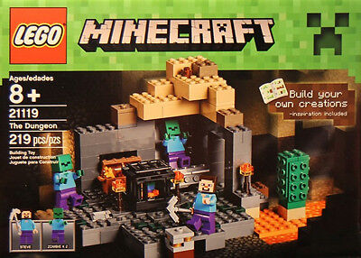 Minecraft The Dungeon Set By Lego Toy Childrens Gift 3 Figures Brand New Sealed