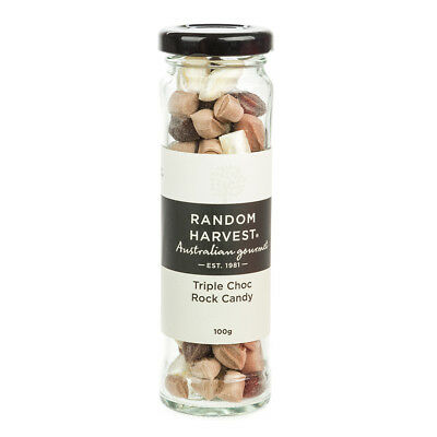 NEW Random Harvest Triple Choc Rock Candy 100g