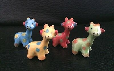 Dollhouse Miniature Little Giraffes Ceramic Animal Figurine Collectible  Decor