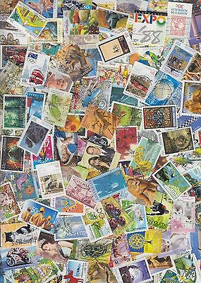 500 All Different Australian stamps includes high values and recent