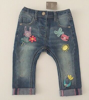 Next New Stretch Jeans Age 6-9 Months Baby Girl
