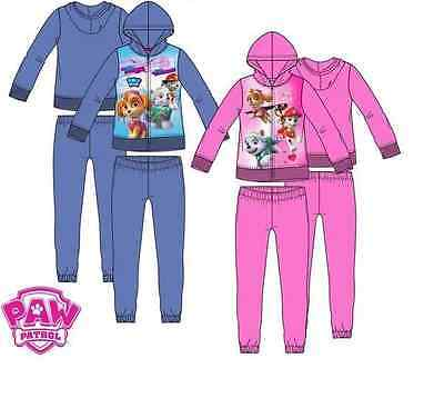 New paw patrol tracksuit pink or purple brush fleece lined 3-4-5-6 years