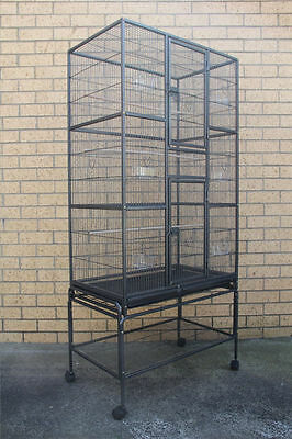 174 cm Large Bird Cage Parrot Aviary Pet Stand-alone Budgie Perch Castor Wheels
