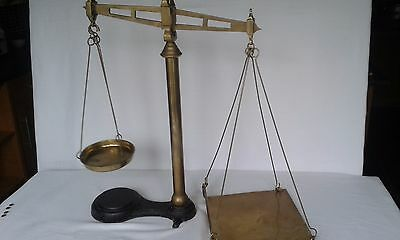 Antique Franklin Bros of Liverpool brass balance weighing scales